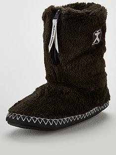bedroom-athletics-marilyn-short-faux-fur-boot-slipper-charcoal