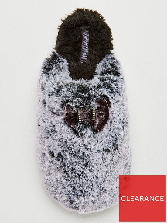 0cba5cb0c7c8 ... Bedroom Athletics Kimberley Luxury Faux Fur Mule Slipper - Charcoal.  View larger