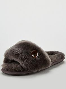 bedroom-athletics-sheepskin-open-toe-mule-slipper-grey