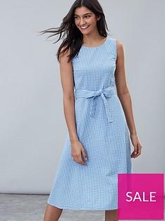e47cd2685d7 Joules Fiona Sleeveless Woven Dress - Blue Posy