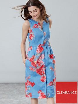 joules-lisia-floral-linen-dress-blue