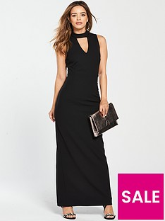 v-by-very-petite-high-neck-maxi-dress-blacknbsp