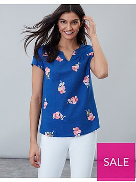 joules-gemma-short-sleeve-printed-top-blue