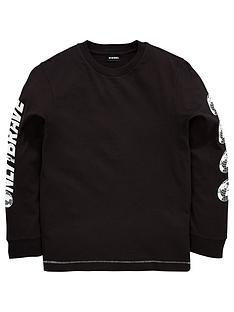 diesel-boys-printed-long-sleeve-graphic-t-shirt-black