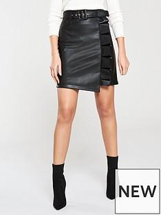 michelle-keegan-belted-pu-mini-skirt-black