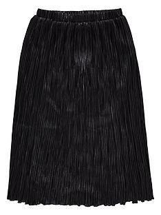 diesel-girls-metallic-pleated-skirt