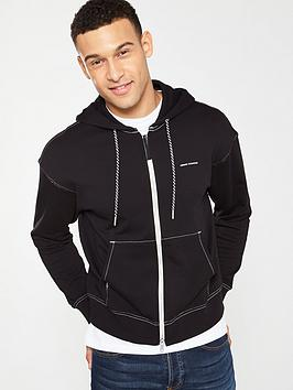 armani-exchange-zip-through-hoodie-black