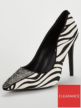 dune-london-animal-magic-jewel-toe-cap-court-shoe-monochrome