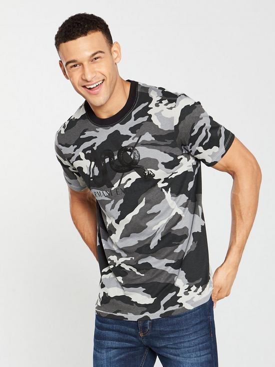 488b5d43 Armani Exchange Camouflage T-Shirt - Camo Grey | very.co.uk