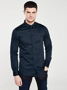 armani-exchange-long-sleeved-shirt-navy