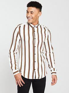 river-island-terrys-tan-stripe-shirt