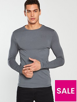 river-island-long-sleeve-musclenbspt-shirt-slate