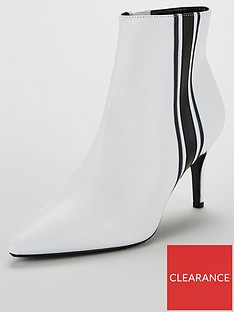 75f547f825 Dune London Stripe Ankle Boot - White