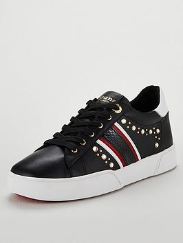 Dune London Embellished Bumper Trainer - Black
