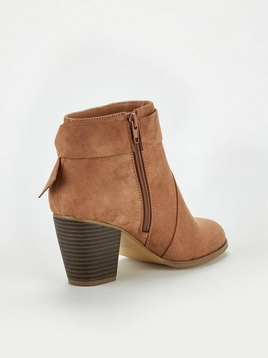 adc598406534 ... V by Very Farris Knot Detail Block Heel Ankle Boot. 4 people have  looked at this in the last couple of hrs.