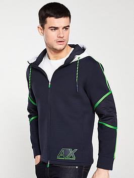 armani-exchange-zip-through-hoodie-navywhite