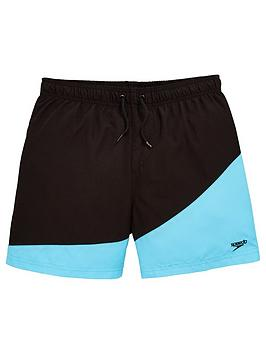 speedo-boys-colour-block-15-inch-water-shorts-black