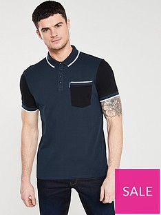 armani-exchange-colour-block-polo-shirt-navyblack