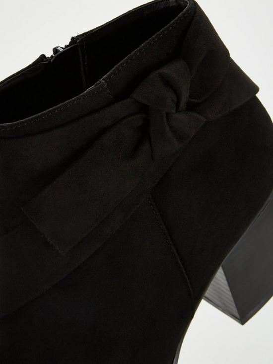25e171baa494 ... V by Very Farris Knot Detail Block Heel Ankle Boot. 2 people are  looking at this right now.