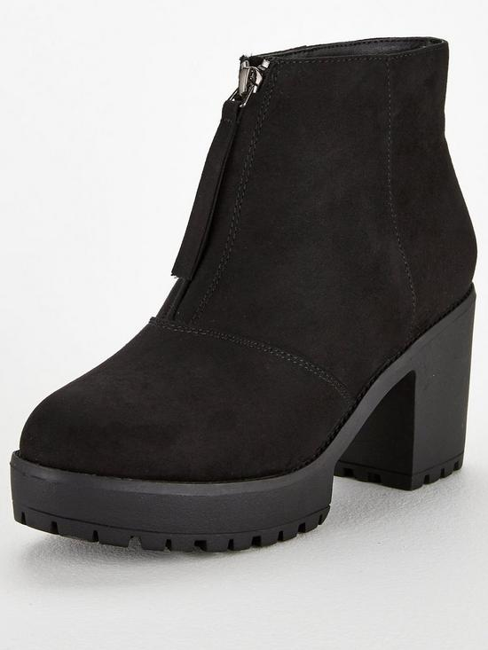 b1d7a203828d V by Very Faria Chunky Platform Ankle Boot - Black