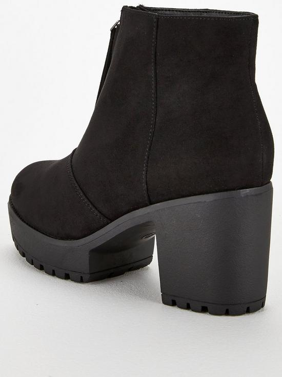 a13a47429132 ... V by Very Faria Chunky Platform Ankle Boot - Black   Previous   Next.  View larger