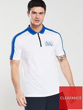 armani-exchange-zip-neck-polo-shirt-whitemarine
