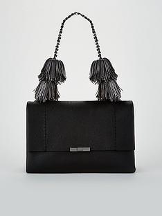 295908134c8fca Ted Baker Meloddy Leather Pom Shoulder Bag - Black