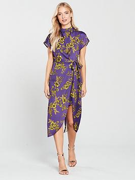 river-island-river-island-printed-split-hem-midi-dress-purple