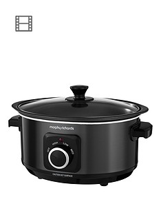 morphy-richards-evoke-35-litre-manual-slow-cooker-black