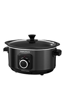 Morphy Richards Evoke 3.5-Litre Manual Slow Cooker - Black Best Price, Cheapest Prices