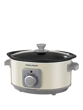 Morphy Richards Evoke 3.5-Litre Manual Slow Cooker - Cream Best Price, Cheapest Prices