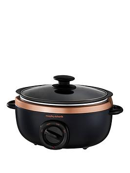 Morphy Richards Evoke 3.5-Litre Manual Slow Cooker - Black/Rose Gold Best Price, Cheapest Prices
