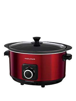 Morphy Richards Evoke 6.5-Litre Manual Slow Cooker - Red Best Price, Cheapest Prices