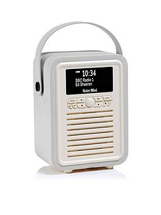 c3a8b502de5 View Quest VQ Retro Mini DAB DAB+ Digital Radio   Bluetooth Speaker - Light  Grey