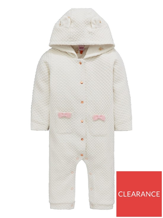 6306db3f5e2bad Baker by Ted Baker Baby Girls Textured Snugglesuit