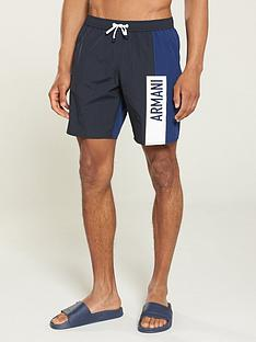 armani-exchange-panel-swimming-shorts-navywhite