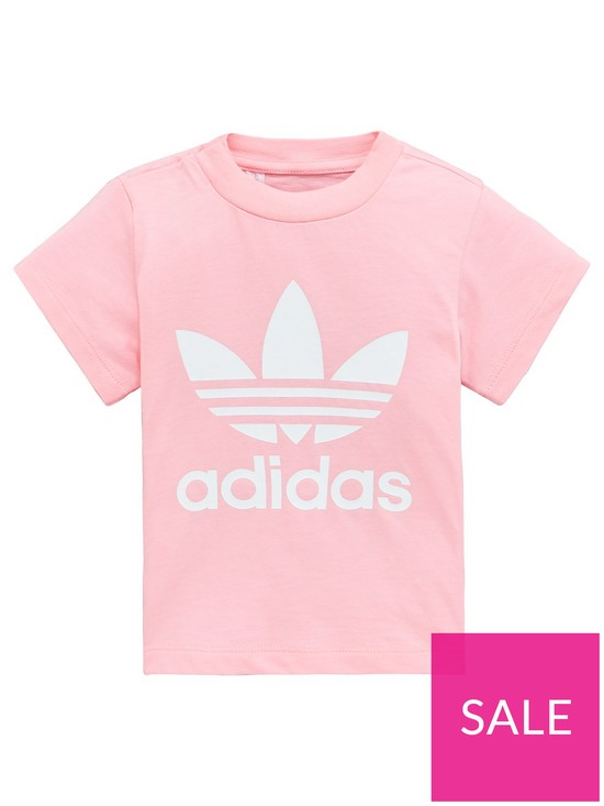 c1b5ce1a adidas Originals Baby Girls Trefoil Tee | very.co.uk