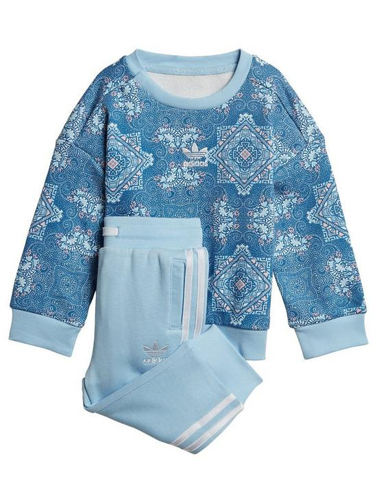 39b1f30c2095 adidas Originals Baby Girls Crew Set