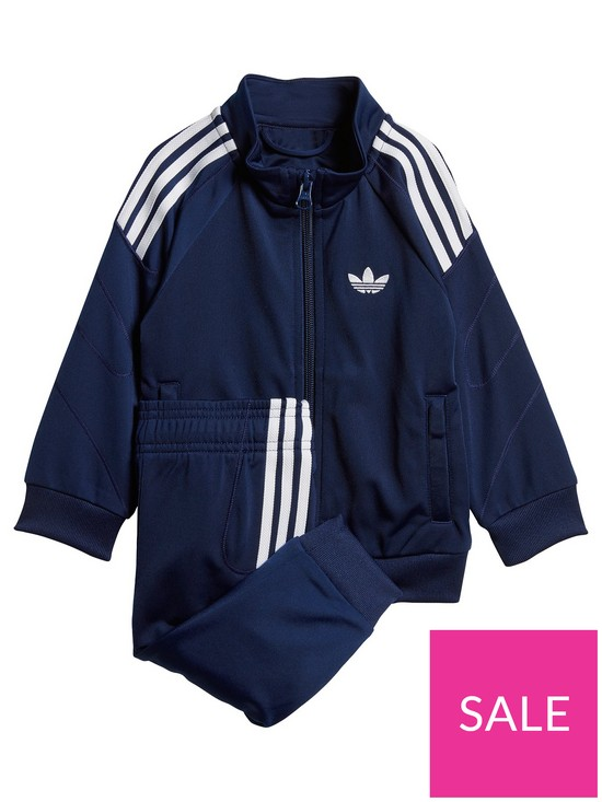 c278f5af5a6 adidas Originals Baby Boys Flamestrike Tracksuit - Navy | very.co.uk