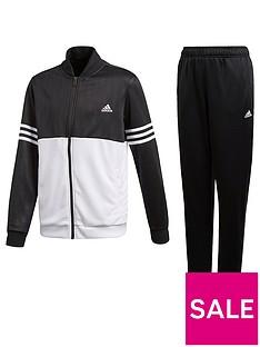 e122e31836 adidas Boys Ts Tracksuit - Black White