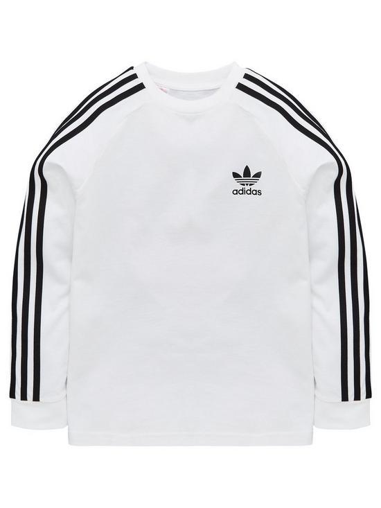 802a5a037 adidas Originals Adidas Originals Boys 3 Stripes Long Sleeve Tee |  very.co.uk