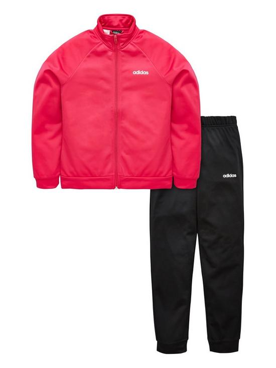 6f4fdfad26 adidas Girls Poly Tracksuit | very.co.uk