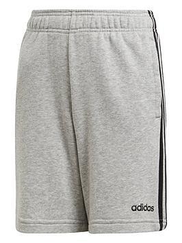 adidas-boys-3-stripe-knit-shorts-grey