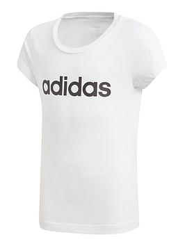 adidas-girls-linear-short-sleeve-t-shirt-white