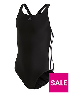 adidas-girls-fit-3-stripe-swimsuit-black