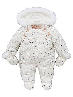 7b0b457eb Baker by Ted Baker Baby Girls Bunnies Splatter Snow Suit