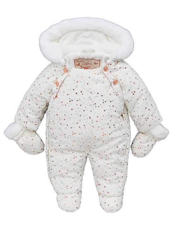 554051ac6 Baker by Ted Baker Baby Girls Bunnies Splatter Snow Suit