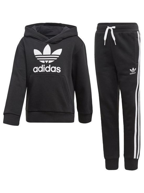 4d0dd201 Adidas Originals Boys Trefoil Hoodie Suit