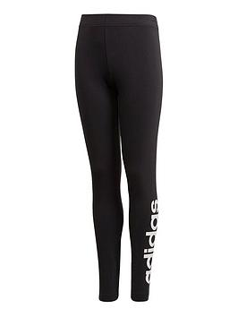 adidas-girls-linear-leggings-black