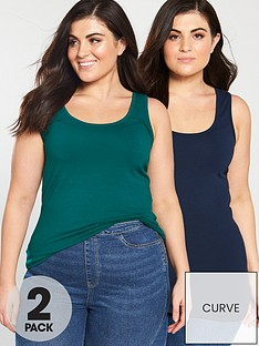 v-by-very-curve-2-pack-longline-vests-navy-green